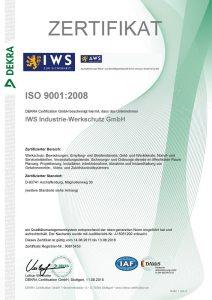 ISO9001 Zertifikat - 01